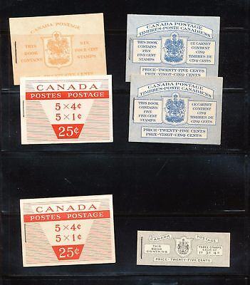 CANADA Complete Booklets x 6 (pie 865)