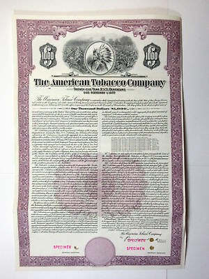 American Tobacco Co., 1952 Specimen Bond