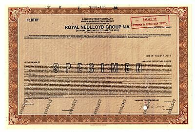 Netherlands. Royal Nedlloyd Group N.V.Specimen odd Shares A.D.R. ABN VF