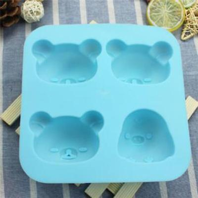 Bear Head Silicone Mould Cupcake Cake Topper Decoration Mold CB