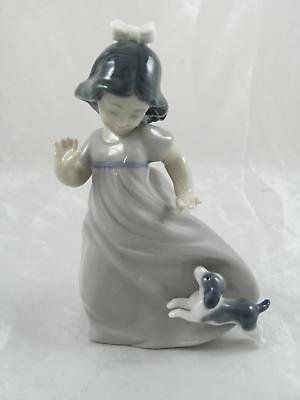 nAO by Lladro figure, girl with dog, excellent condition.