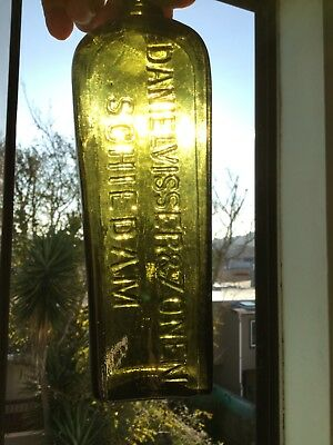 Antique Applied Top Daniel Visser & Zonen Case Gin Bottle Schiedam