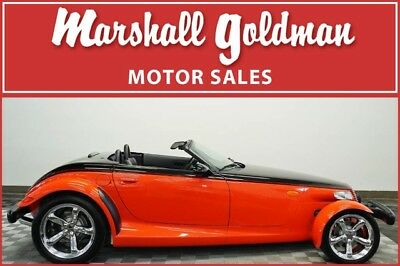 2000 Plymouth Prowler Base Convertible 2-Door 2000 Plymouth Prowler Prowler Black over Prowler Red w/Agate lthr only 998 miles