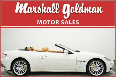 2013 Maserati Gran Turismo Base Convertible 2-Door 2013 Maserati Granturismo Spider Bianco Eldorado and Cuoio only 27,000 miles
