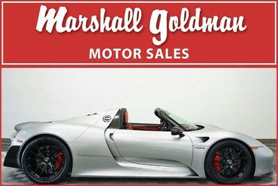 2015 Porsche Other Base Convertible 2-Door 2015 Porsche 918 Spyder Weissach pkg GT Silver/Garnet magnesium wheels 199 miles