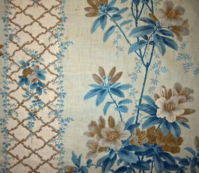 BEAUTIFUL MID 19th CENTURY CHINTZ, FLOWERS, PICOTAGE, PROJECTS