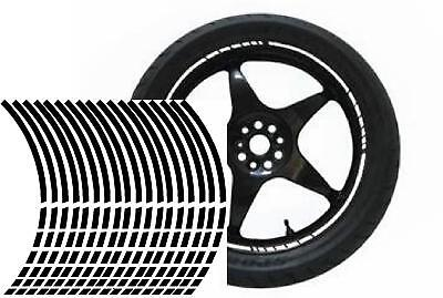 NEW wheel rim tape striping stripes stickers BLACK..(36 pieces/8 per wheel)