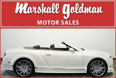 2015 Bentley Continental Flying Spur  2015 Bentley Continental GTC Speed Ghost White Pearlescent Burnt Oak 5,400 miles