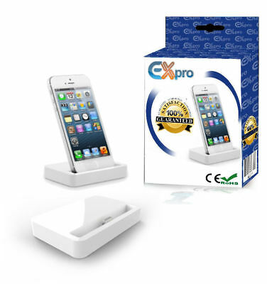 Ex-Pro® Charging Base Dock for Apple iPhone, White