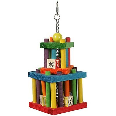Happypet Building Block Maze Large Non Toxic Coloured Wood  Parrot Cage Toy Toys