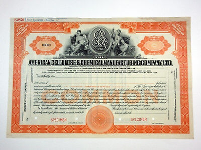American Cellulose & Chemical Manuf'ng Co., Ltd., ca.1930-1940 Specimen Stock