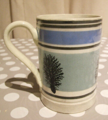 1 Pint Mocha Ware Mug Assay Mark Thought to be South Wales Llanelly Pottery