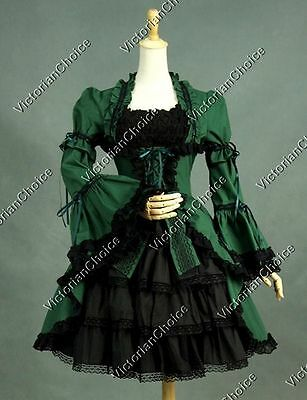 Victorian Gothic Lolita Dress Christmas Party Gown Dress Theater Steampunk 233 L