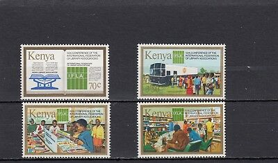 a130 - KENYA - SG317-320 MNH 1984 50th CONFERENCE LIBRARY ASSOCIATIONS