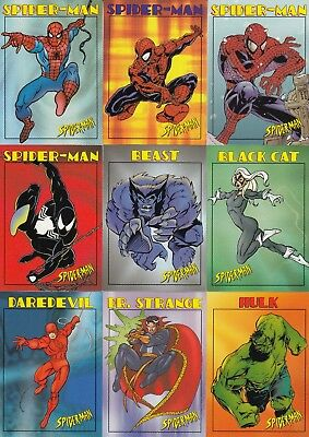 Spider-Man 99 Cents 1997 Fleer Skybox Complete Base Card Set Of 50 Marvel