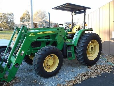 2010 John Deere 6100D 4X4+ Self Leveling Loader+ Canopy With 1,913 Hours-  Nice