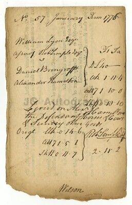 James Wilson - Scarce 1776 Document - Year of Declaration of Independence