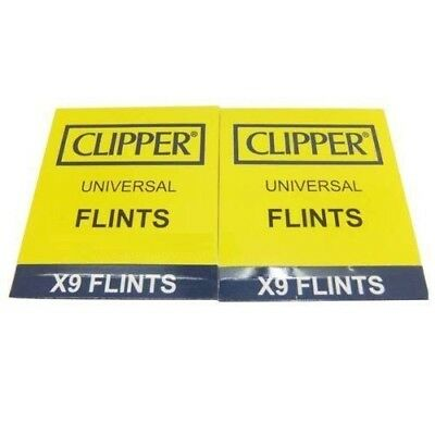 CLIPPER LIGHTER FLINTS - 2X (9 count) PACKS - 18 total - Works in Clipper&Zippo