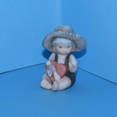Kim Anderson Pretty As A Picture Figurine 1998 Boy Holding Box of Chocolates 2""