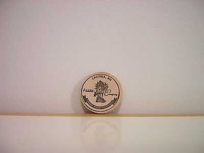 Laconia NH Allen Rogers Company Turned Wood Products Wooden Nickel