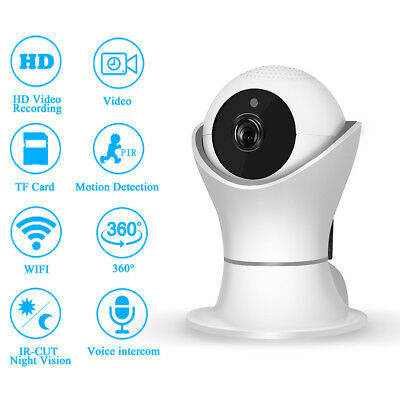 1080P HD 360° Panoramic Home Security Network IP Wifi Camera Wireless Smart Cam
