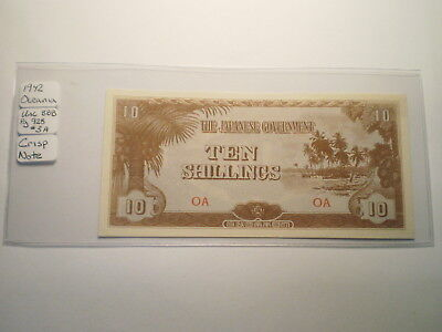 1942 10 Shilling Note Oceania/ Japanese Occupation Money/ Rare