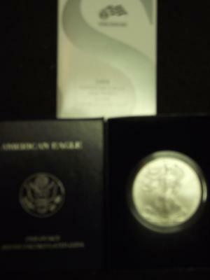 2008-W BURNISHED SILVER EAGLE, Direct from the US Mint, With Box & COA's