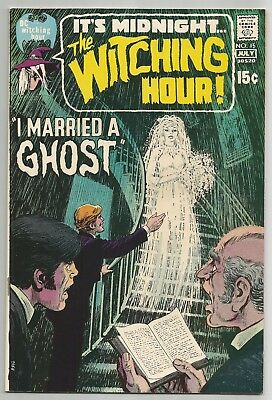Witching Hour No. 15 July 1971 N. Cardy Cover W. Wood & G. Morrow Art Dc  Vf