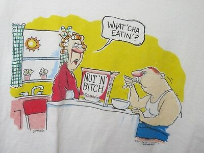 Vintage T-Shirt CEREAL Related What Cha' Eatin'? ~ Nut 'N' B!^@H 1996 Large
