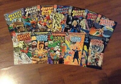 Justice Society Of America  Lot Of 12 Dc Superheroes Comic Books