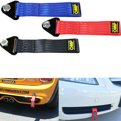 Durable Red High Strength Racing Tow Strap Set For Front Rear Bumper Towing Hook