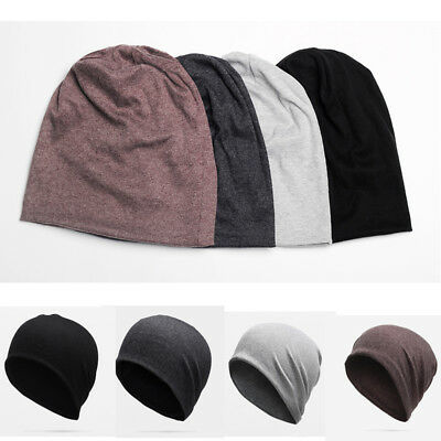 Men Cotton Winterr Slouch Skull Oversize Long Beanie Women Baggy Cap Ski Hat N