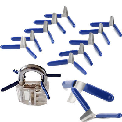 New 10Pcs Padlock Opener Shim Picks Locksmith Tool Lockpicking Lock Pick