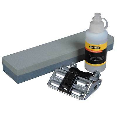 Stanley Wood Chisel/Plane Blade Honing Guide, Sharpening Stone, Oil Kit, 016050