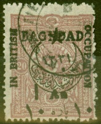 Baghdad 1917 In British Occupation 1a on 20pa Claret SG23 Fine Used Rare