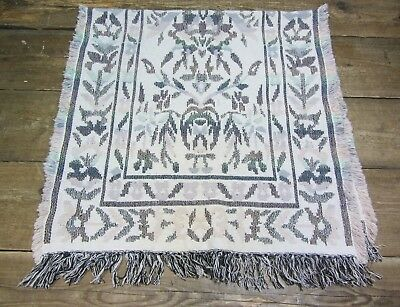 "Multi Coloured Woven Aztec Pattern Fringed Rug Throw - 60"" x 30"""