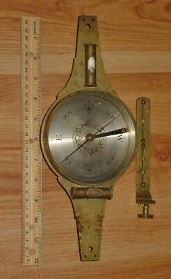 Early 19thC Boston Vernier Surveyor Compass Thaxter & Son Theodolite AS IS