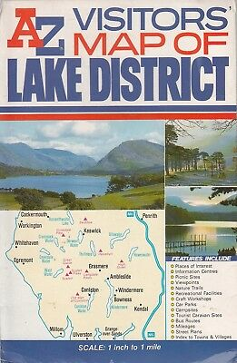 AZ Visitors Map of Lake District - Geographers A-Z Map Co - Acceptable - Map