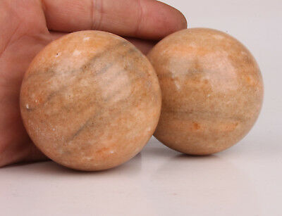 Baoding Ball Pair Natural Jade Carving Hand Health Massage Relieve Pressure