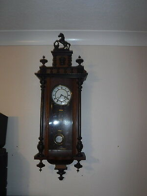 Wall Clock Vintage Striking Movement In A Superb Case