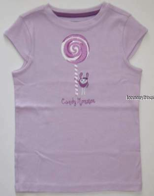 Tops & T-shirts Nwt Gymboree Sunny Citrus Purple Candy Monster Lollipop Top Size 5 5t High Quality Girls' Clothing (newborn-5t)