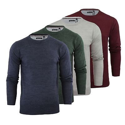 Brave Soul Parsec Mens Jumper Knitted Crew Neck Sweater