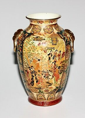 Royal Satsuma Large Vase, 12 Inches.