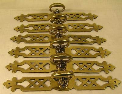 "12 Vintage Style Brass Handles Pulls Knobs 6"" long Cabinet Furniture Hardware"