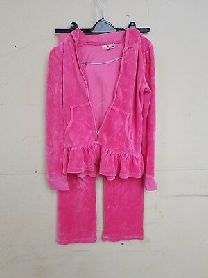 Juicy Couture Kids / Girls Velour Pink Tracksuit Age 12 Top And Bottoms