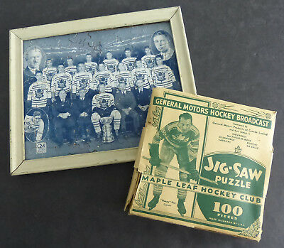 1933-34 Gm Toronto Maple Leafs Puzzle With Box