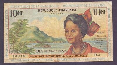 10 Nouveaux Francs From French Antilles French Colony