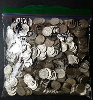 Bag of 500 10c Silver Dimes