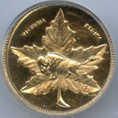 RARE 1898 Manitoba Gold 1D / Prooflike MS65 ICG / Only 200 Minted R4