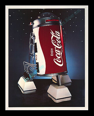 Star Wars CENSORED-WITHDRAW ☆ Coca-Cola COBOT Movie Poster Promotional DISPLAY!!